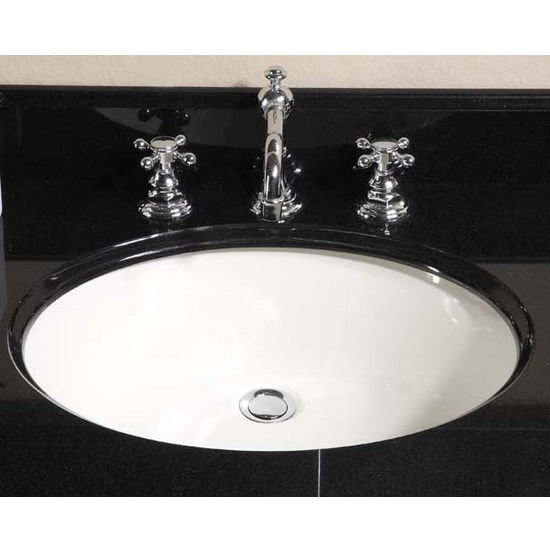 Kitchen Sinks Small Oval Undermount Sink Biscuit By