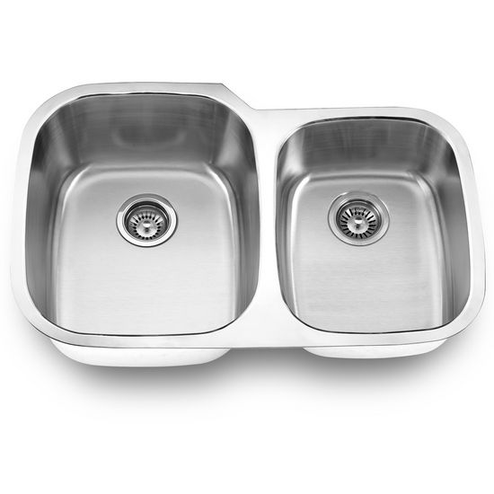 Empire Stainless Steel Undermount Double Bowl Kitchen Sink