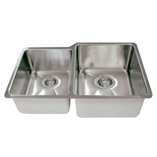 Kitchen Sinks - Empire Atlas Stainless Steel Undermount Double Bowl ...