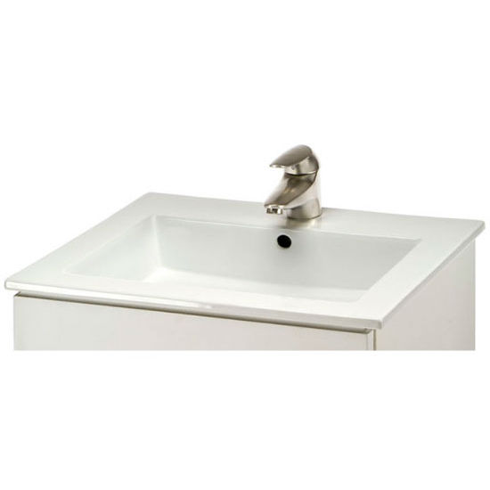 "Empire Laguna 21"" Ceramic Sink in White, 1 Hole"