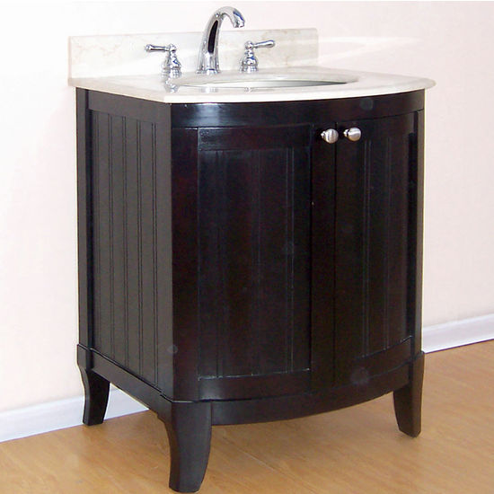 "Empire Malibu Collection Dark Mahogany Bathroom Vanity 24"" W"