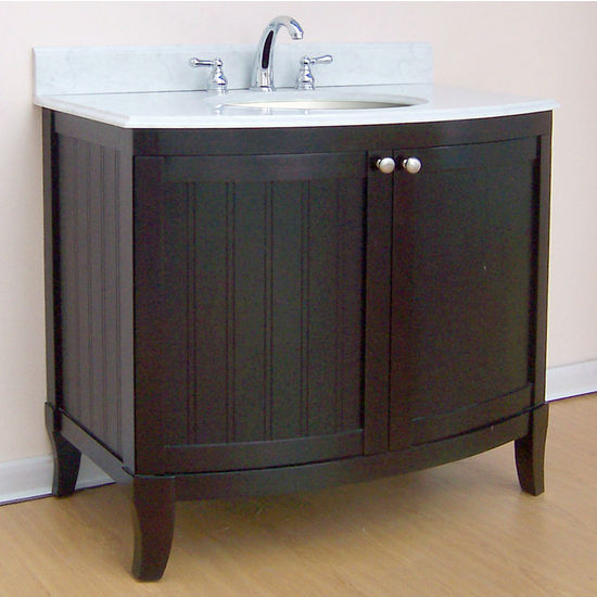 "Empire Malibu Collection Dark Mahogany Bathroom Vanity 36"" W"