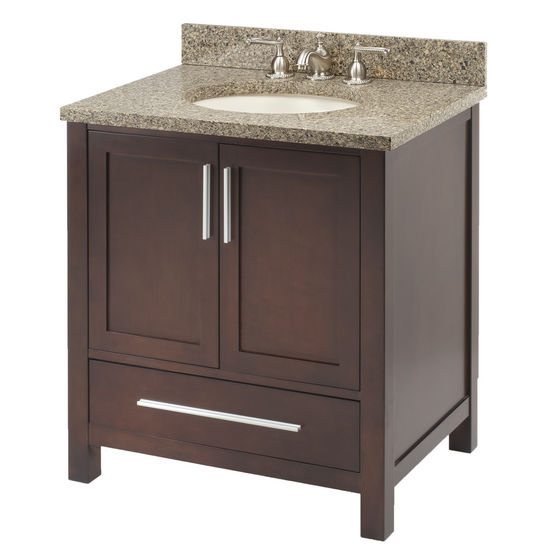 "Empire Monaco 36"" Two Doors and One Drawer Dark Cherry Vanity For 3722 Countertop, Dark Cherry"