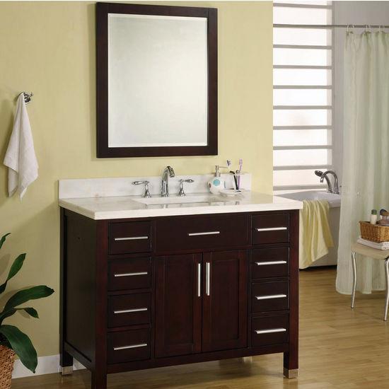 Bathroom Vanities 42 Monaco Collection Vanity In Dark Cherry By Empire Kitchensource