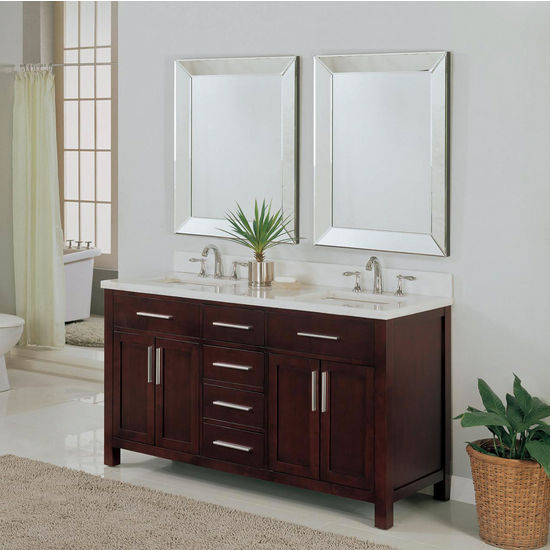 "Empire 60"" Dark Cherry Vanity, Monaco Collection"