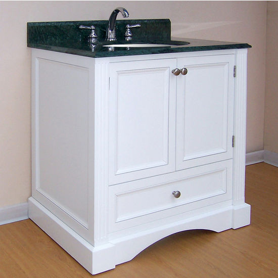 "Empire Newport Collection White Bathroom Vanity 30"" W"