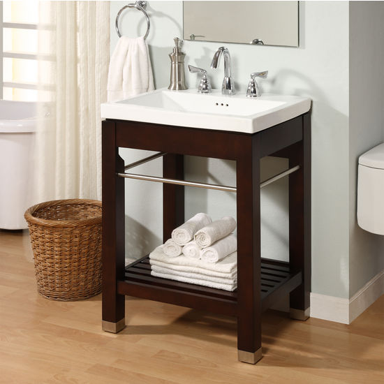 Bathroom Vanities New York 21 Open Shelf Console For Tribeca Sink