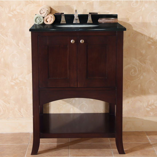 "Empire Open Empress 24"" Two Doors Vanity, Spice Cherry"