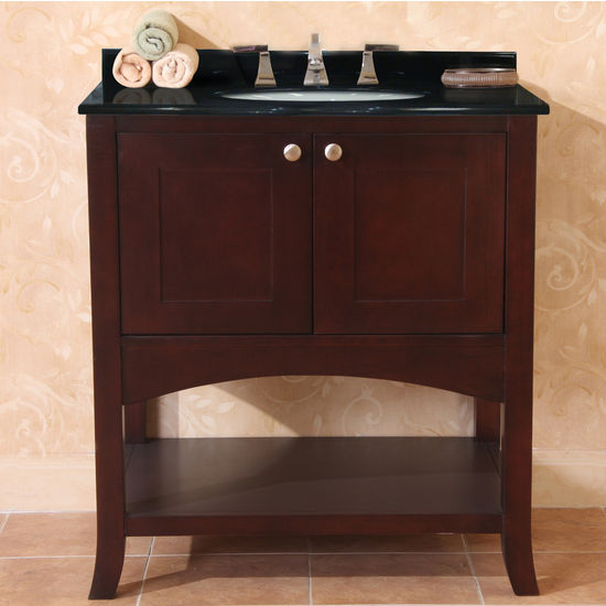 "Empire Open Empress 30"" Two Doors Vanity, Spice Cherry"