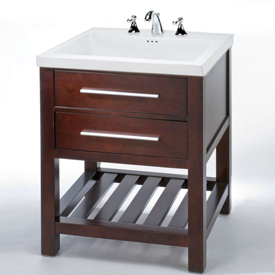 "Empire Priva 30"" One Drawer Vanity For Fiorella Sink, Dark Cherry"