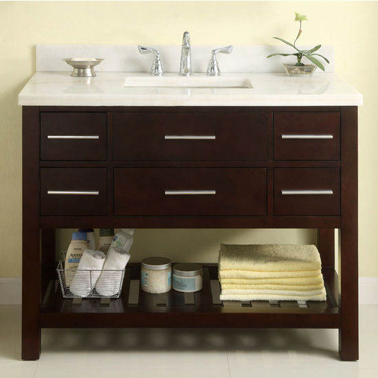 "Empire 42"" Priva Vanity, Dark Cherry"