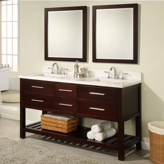 "Empire 60"" Priva Vanity, Dark Cherry"
