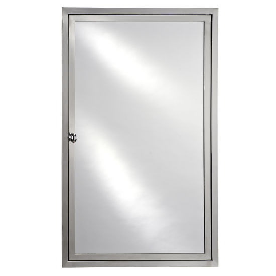 "Empire South Beach 20"" Recessed Medicine Cabinet, Polished Stainless Steel"