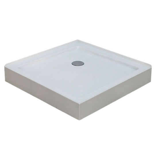"Empire Square Shower Tray for Corners Series Splash Square Shower Doors Enclosure, 36"" W x 35-3/5"" D x 6-1/2"" H"
