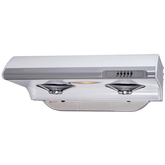 Empire Tornado 3 Speed Self-Clean White Range Hood