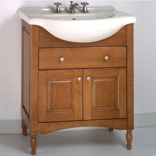 """Empire Windsor 34"""" Solid Wood Bathroom Vanity in Light Cherry"""