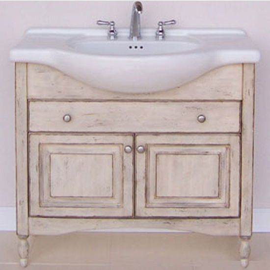 "Empire Windsor 38"" Bathroom Vanity in Antique White"