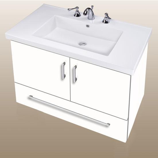 Bathroom vanities wall hung daytona 30 39 39 two doors and - Bathroom vanity with bottom drawer ...