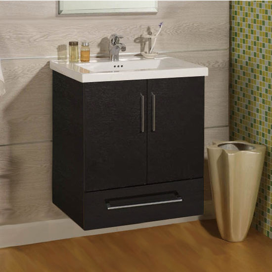 "Empire Wall-Hung Daytona 24"" Vanity with 2 Doors & 1 Bottom Drawer"