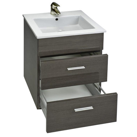 "Empire Wall-Hung Daytona 21"" Vanity with 2 Drawers"