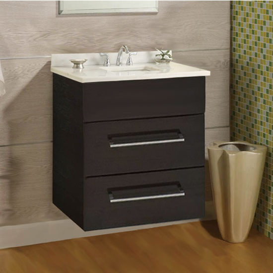 "Empire Wall-Hung Daytona 24"" Vanity for 2522 Stone Countertops with 2 Drawers"