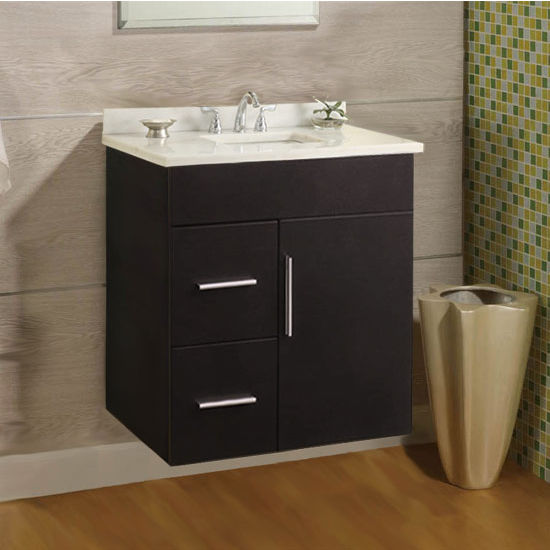 "Empire Wall-Hung Daytona 24"" Vanity for 2522 Stone Countertops with 1 Door & 2 Drawers"