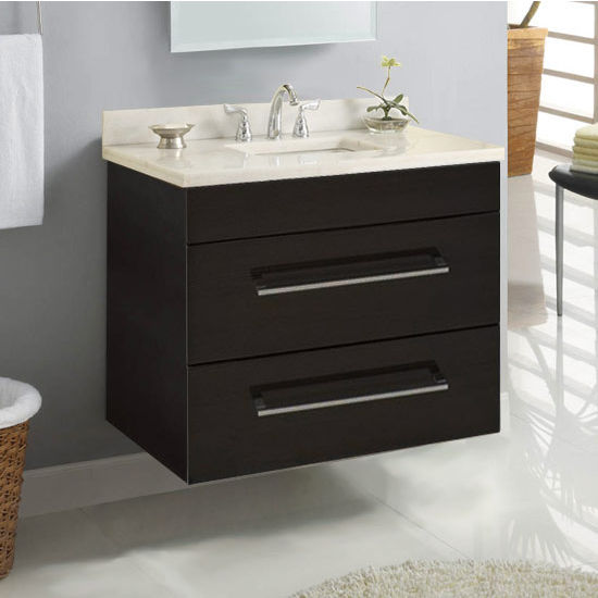 "Empire Wall-Hung Daytona 30"" Vanity for 3122 Stone Countertops with 2 Drawers"