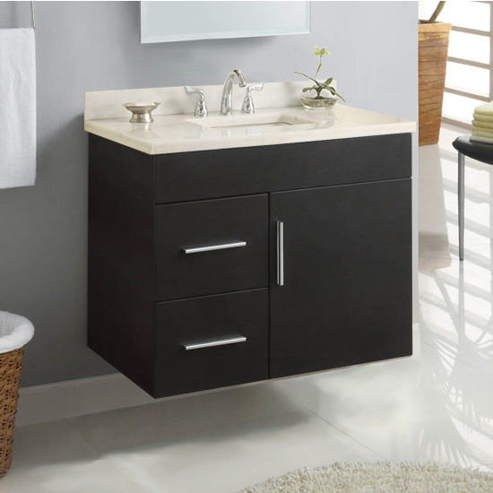 "Empire Wall-Hung Daytona 30"" Vanity for 3122 Stone Countertops with 1 Door & 2 Drawers"