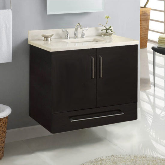 "Empire Wall-Hung Daytona 30"" Vanity for 3122 Stone Countertops with 2 Doors & 1 Drawer"