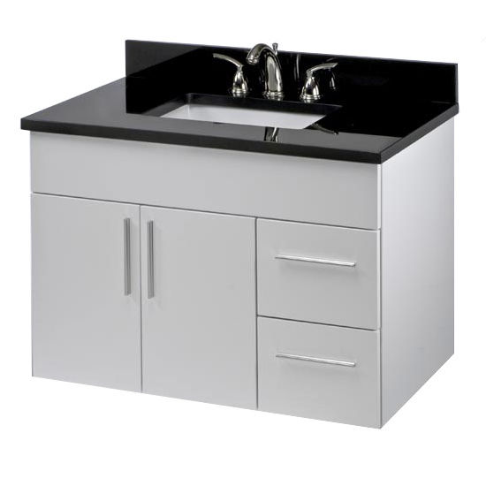 "Empire Wall-Hung Daytona 36"" Vanity for 3722 Stone Countertops with 2 Doors & 2 Drawers"