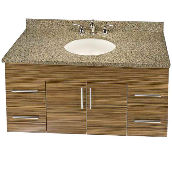 "Empire Wall-Hung Daytona 48"" Vanity for 4922 Stone Countertops with 2 Doors & 4 Drawers"