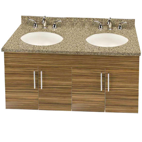 "Empire Wall-Hung Daytona 48"" Vanity for 4922 Double Bowl Stone Countertops with 4 Doors"