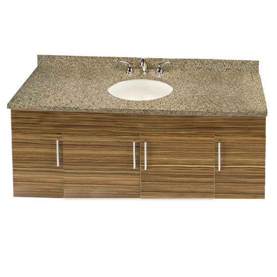 "Empire Wall-Hung Daytona 60"" Vanity for Single Bowl Cut-Out Stone Countertops with 4 Doors"
