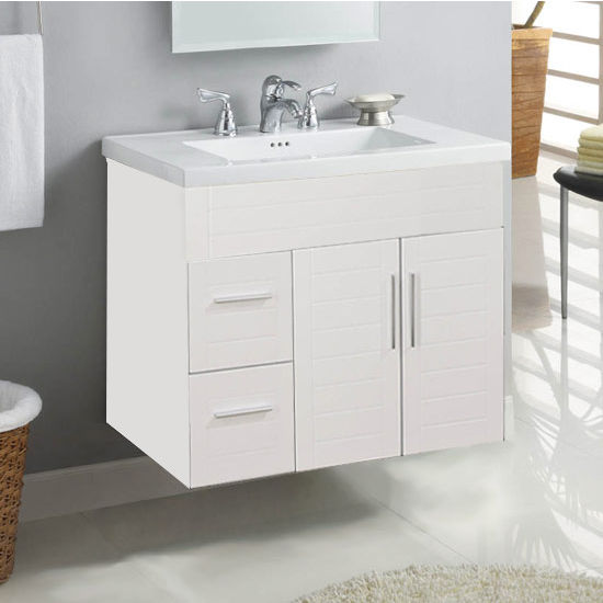 "Empire Wall-Hung Metropolitan 30"" Vanity with 2 Doors & 2 Left Drawers"