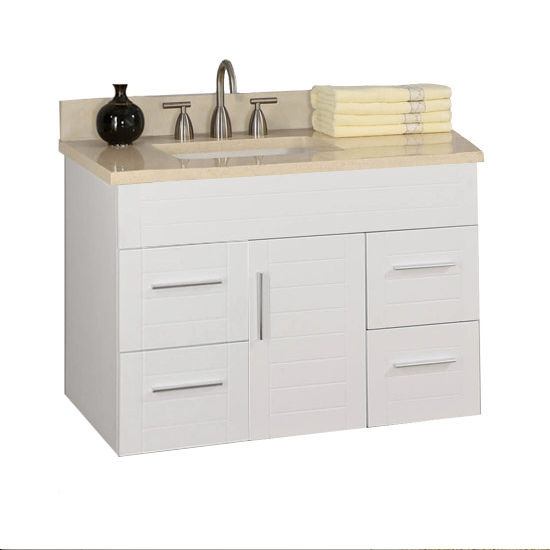 "Empire Wall-Hung Metropolitan 40"" Vanity with 1 Door & 4 Drawers"