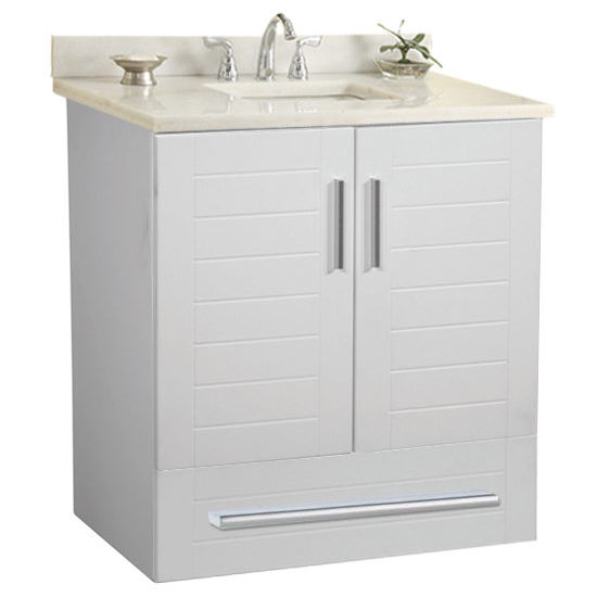 "Empire Wall-Hung Metropolitan 24"" Vanity for 2522 Stone Countertops with 2 Doors & 1 Drawer"
