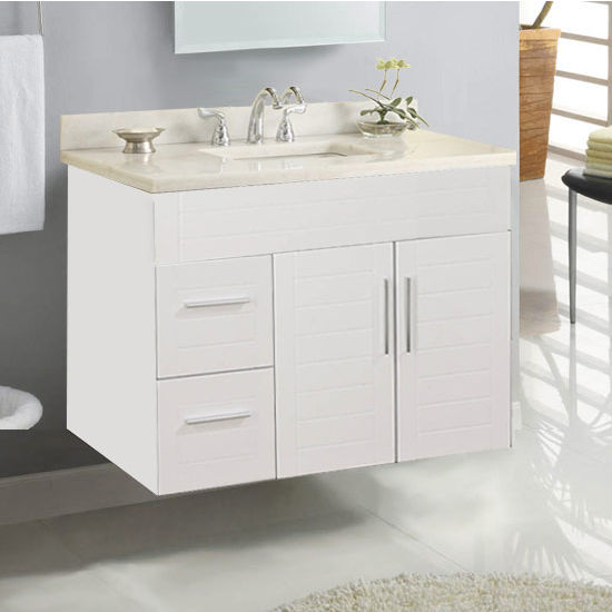 "Empire Wall-Hung Metropolitan 36"" Vanity for 3722 Stone Countertops with 2 Doors & 2 Drawers"