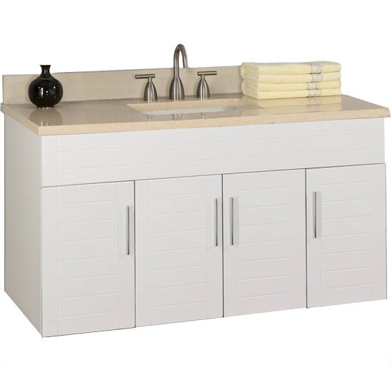 "Empire Wall-Hung Metropolitan 48"" Vanity for 4922 Center Cut-Out Stone Countertops with 4 Doors"