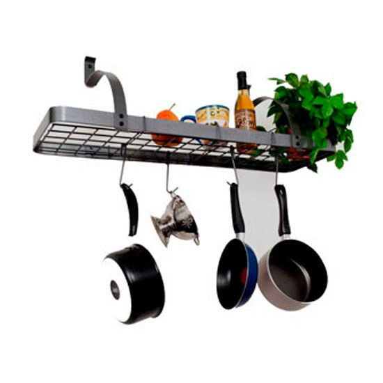 Enclume Wall Mount Large Bookshelf Pot Rack