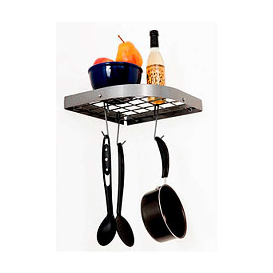 Wall Mount Corner Pot Rack