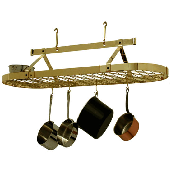 Five Foot Oval Pot Racks With Optional Grid PR16A Series