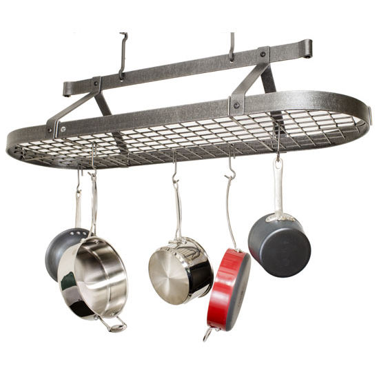 Ceiling Mounted Four Foot Oval Pot Racks PR16C Series