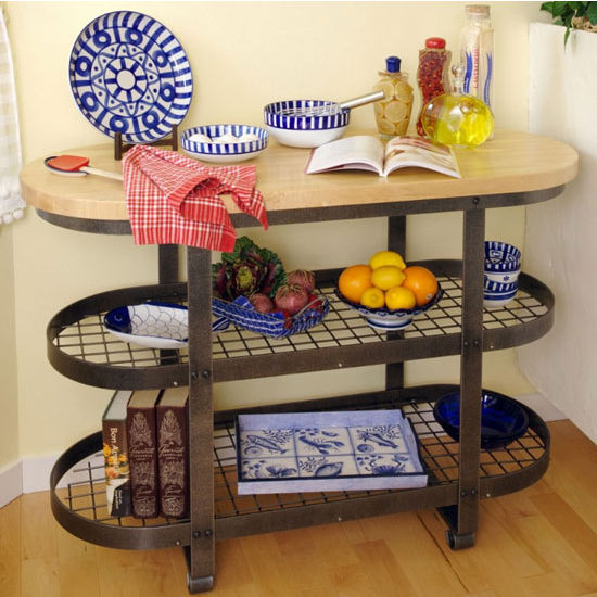 Enclume Gourmet Kitchen Island with Butcher Block Top