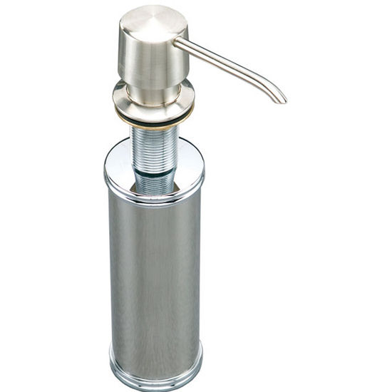 Houzer Preferra Round Head Soap Dispenser in Stainless Steel