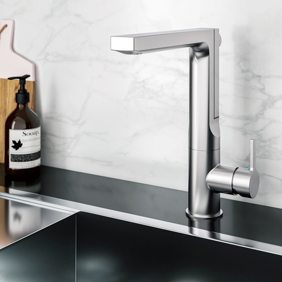 Brushed Nickel Ascend Pull Up Faucet