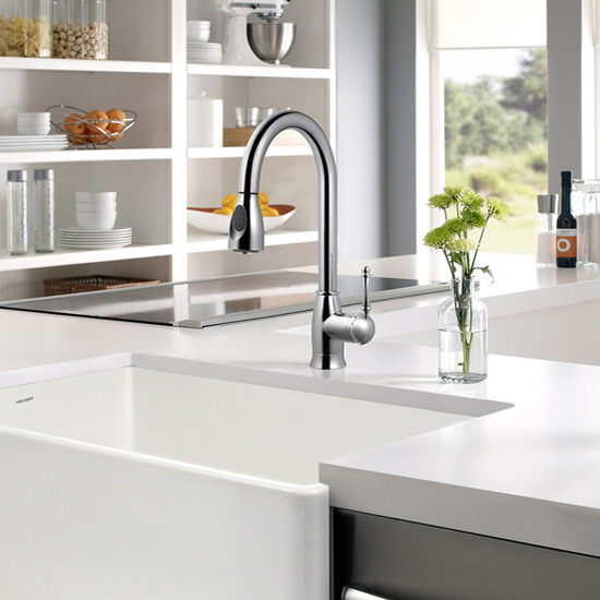 Camden Pull Down Kitchen Faucet In Brushed Brass Brushed Nickel
