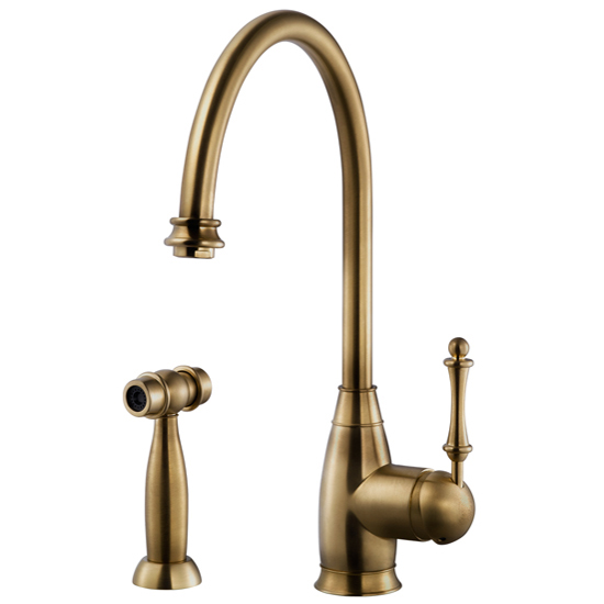Antique Brass Charlotte Traditional Faucet