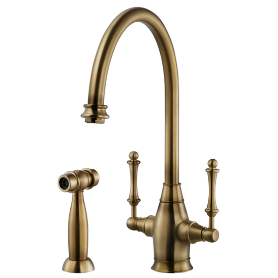 Antique Brass Charleston Two Handle Faucet