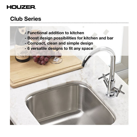 52 Splendid Home Bar Ideas To Match Your Entertaining: Club Series Undermount Large Bar/Prep Sink By Houzer