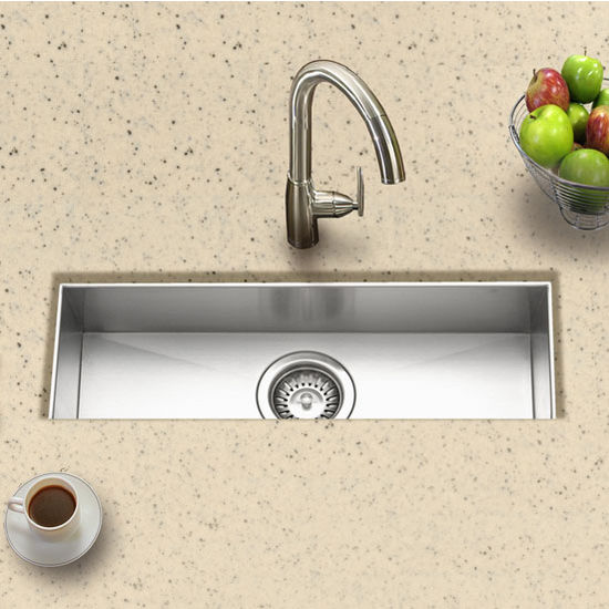 Trough Bar Sink : Kitchen-Sinks - 23 W Undermount Trough Bar/Prep Sink - Stainless ...